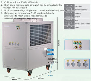 China 25000w Commercial Portable Spot Coolers Fully Enclosed Turbine Compressor supplier