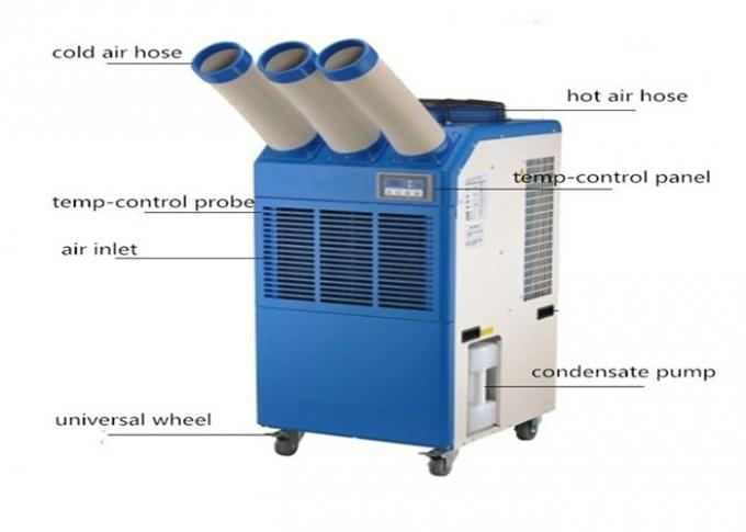 22000BTU Portable Spot Coolers Temporary Commercial AC Units With CE Certification