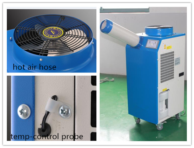 R410A Commercial Spot Coolers Refrigerant Single Duct With Self-Contained Pulleys